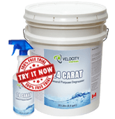 VELOCITY - 24 Carat: Heavy-Duty General Purpose Degreaser | Truck, Car Washes, Heavy Equipment Chemical Cleaning Solution