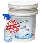 Velocity - ABF: Aluminum Brightener, Etchant and Cleaner   Trucks and Trailers Exterior Chemical Cleaning Solution