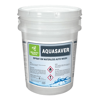 VELOCITY - AQUASAVER: Spray-on Waterless Auto Wash | Chemical Cleaning Solution